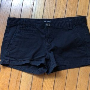 Black express shorts
